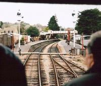 An unusual view of Winchcombe in December 2007, photographed from a brake van being hauled to Toddington by a class 37. Galas are great fun!<br><br>[Ken Strachan&nbsp;27/12/2007]