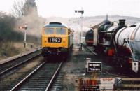 47.105 approaching Toddington at the G&WR 2007 Diesel Gala in December 2007. The wife was away, so the gricer played...<br><br>[Ken Strachan&nbsp;27/12/2007]