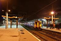 156480 is parked up for the night on Platform 4c at the south end of Preston station on 10 October 2009.<br><br>[John McIntyre&nbsp;10/10/2009]