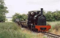 Tattoo at the Kerr Stuart Gala at the Amerton Farm Railway.<br> An amiable outfit comprising a wobbly loop of rails laid in a field.<br><br>[Ken Strachan 18/06/2005]