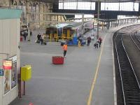 South end of Carlisle station in October 2009, with Settle and Carlisle and Newcastle arrivals at platforms 5 and 6. What happened to the cafe?<br><br>[Bruce McCartney&nbsp;12/10/2009]