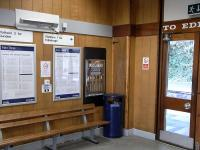 I don't believe that cigarette vending machines were ever much of a <br> feature at stations, so this survivor at Burntisland in September 2009 is all the more remarkable. When it sold its last packet they were 20p (surely for 10, though it doesn't say) so it can't have been long after decimalisation in 1971. Nobody has troubled to remove it, and it is all of a piece with the 'period' decor.<br><br>[David Panton&nbsp;30/09/2009]