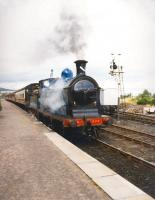 Ex-CR 828 photographed leaving Boat of Garten in August 1993.<br><br>[Ken Browne&nbsp;18/08/1993]