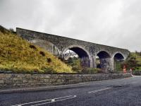 The Great North of Scotland Railway was denied easy access to Cullen as The Earl of Seafield, being a director of the Highland Railway, refused to allow it to cross his land. Because of this the first quarter of a mile between Cullen and Portknockie has three viaducts and a bridge. This is the second viaduct going west.<br><br>[John Gray&nbsp;22/10/2009]
