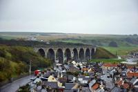 The main eight arch viaduct on the approach to Cullen from Portknockie. Picture taken from the next viaduct in line.<br><br>[John Gray&nbsp;22/10/2009]