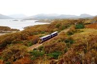 A Sprinter runs by a remote section of Loch Carron about a mile south of Duirinish station.<br><br>[Ewan Crawford&nbsp;01/10/2009]