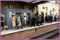 A NAAFI has been set up on platform 2 at Pickering to provide sustenance to the many soldiers and civilians passing through the station during the War Weekend event on 18 October 2009.<br><br>[John McIntyre&nbsp;18/10/2009]