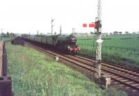 4472 <I>Flying Scotsman</I> photographed near Drem with a special in the 1960s.<br><br>[Bruce McCartney&nbsp;//]