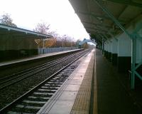 Platform shelters (with compartments) at Beeston station, looking to Attenborough Junction.<br><br>[Iain Steel /04/2008]