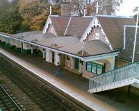 The fine 1847 Midland Railway building on the Nottingham bound platform at Beeston station.<br><br>[Iain Steel /04/2008]