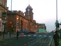 The grand main entrance to Nottingham station in 2008, viewed from Carrington Street.<br><br>[Iain Steel&nbsp;/04/2008]