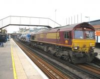An RHTT (or loco-hauled 'leaf train' if you prefer) passes Caledonian Road & Barnsbury station en-route from Liverpool Street to Richmond on 30 October.<br><br>[Michael Gibb 30/10/2009]