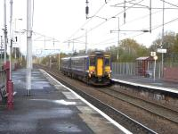 156 456 pulls out of Coatbridge Central for Motherwell on 28 Oct 2009<br><br>[David Panton&nbsp;28/10/2009]