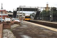 An afternoon service stands at Motherwell on 18 August 2008 about to depart for Lanark.<br><br>[Andrew Wilson&nbsp;18/08/2008]