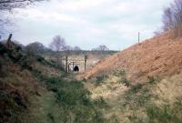 The bridge and tunnel at Mierystock (aka Mireystock), the highest point  of the Severn and Wye main line, looking north towards Lydbrook.<br><br>[John Thorn&nbsp;/04/1968]