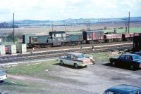The last scheduled freight from Hawick at the south end of Millerhill Yard on 25th April 1969 near the site of Millerhill station (closed November 1955).<br><br>[Bruce McCartney&nbsp;25/04/1969]
