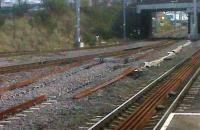So near and yet so far - this is the gap between the WCML and the Leicester line at Nuneaton. Not far physically, but doubtless a long way in terms of signalling and control. October 2009.<br><br>[Ken Strachan&nbsp;31/10/2009]