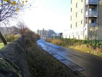 View towards Abbeyhill Junction from the site of Easter Road Park Halt on 31 October 2009<br><br>[David Panton&nbsp;31/10/2009]