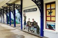 Part of Tracey Shough's <i>The Long Goodbye</i> mural for the 4th battalion of the Seaforth Highlanders at Invergordon station.<br><br>[Ewan Crawford&nbsp;29/09/2009]