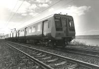 Prototype EMU 920-001 near Ardmore East level crossing circa 1977 on a publicity run.<br><br>[Gordon Smith Collection (Courtesy Ken Browne) //1977]