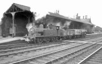 J72 0-6-0 no 68682 of 52D shunts at the south end of Tweedmouth station in August 1957.<br><br>[Robin Barbour Collection (Courtesy Bruce McCartney)&nbsp;06/08/1957]