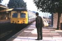 When posties met trains - Chepstow (already unstaffed) station one sunny morning in the summer of 1971.<br> <br><br>[David Spaven&nbsp;//1971]