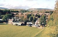 Ingleton had two stations, one on either side of its end-on junction between the MR and the LNWR. The site of one of them is now a community centre, adjacent to a rather nice viaduct, seen here in May 2009.<br><br>[Ken Strachan&nbsp;10/05/2009]