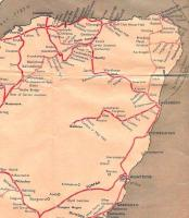 A detail from the Scottish Region map for 1960-61 showing the railways of the North East.� Today's uquivalent is a little simpler, with a line coming up the coast to Aberdeen, then heading inland towards Inverness. Following the closure to passengers of the Dufftown line, through trains took the direct route between Keith and Elgin which was clearly seen as a mere branch line hitherto. <br> <br><br>[David Panton&nbsp;//1960]