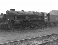 46100 <I>Royal Scot</I> stored on Nottingham shed on 21 October 1962. The locomotive was subsequently transferred to Carlisle Kingmoor and continued in service for a further two and a half years until finally withdrawn by BR in April 1965. The locomotive is now preserved [see image 22991].<br><br>[David Pesterfield&nbsp;21/10/1962]