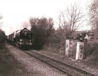 60163 <I>Tornado</I> passing the site of the former Purton station (closed 1964) on the Gloucester - Swindon line on 7 November 2009 with a <I>Pathfinder</I> excursion. <br><br>[Peter Todd&nbsp;07/11/2009]