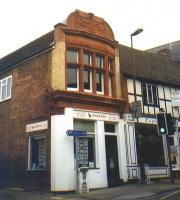 The former offices in Wantage of the eponymous Tramway Company,  photographed in September 2003. Opened in 1875 to link the Oxfordshire village with Wantage Road station on the GW main line, the historic Tramway closed to passengers in 1925 and to freight in 1945. <br> <br><br>[Colin Miller&nbsp;/09/2003]