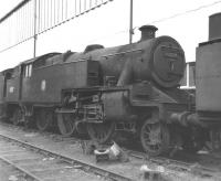 Former London, Tilbury & Southend Railway no 42527 photographed on 23 September 1962 standing on the scrapline alongside Doncaster Works. One of a large number of the class withdrawn in 1962 following electrification of the LT&S line.<br><br>[David Pesterfield&nbsp;23/09/1962]