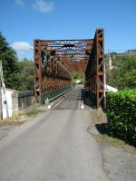 Looking across Chalabre railway bridge on the former Mirepoix - Lavalenet branch line.<br><br>[Alistair MacKenzie&nbsp;05/10/2009]