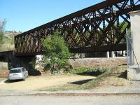 Chalabre railway bridge on the former Mirepoix - Lavalenet branch line.<br><br>[Alistair MacKenzie&nbsp;05/10/2009]