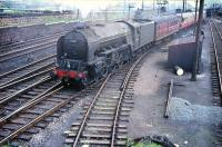 Haymarket A2 Pacific no 60537 <I>Bachelor's Button</I> brings empty stock bound for Waverley out of Craigentinny sidings in 1958.<br><br>[A Snapper (Courtesy Bruce McCartney)&nbsp;//1958]