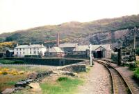 Boston Lodge Works on the Ffestiniog Railway, view east in 1968. <br><br>[John Thorn&nbsp;/05/1968]