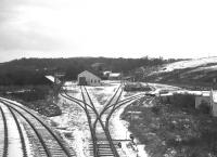 The extensive goods yard at Ballindalloch, as seen on 2 November 1968 - freight services between Aviemore and Aberlour had been withdrawn the previous day.<br><br>[David Spaven&nbsp;02/11/1968]