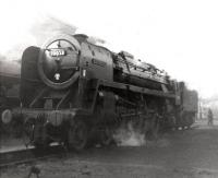 Britannia Pacific no 70053 <I>Moray Firth</I> photographed on its home shed at 55A Leeds Holbeck on 20 May 1962<br><br>[David Pesterfield&nbsp;20/05/1962]