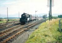 Black 5 no 45496 with a down summer service from Blackpool passing Symington on 29 August 1959<br> <br><br>[A Snapper (Courtesy Bruce McCartney)&nbsp;29/08/1959]