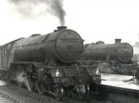 V2 2-6-2 no 60972 stands alongside Class 5 4-6-0 44976 at Stirling circa 1964<br><br>[Gordon Smith Collection (Courtesy Ken Browne)&nbsp;//1964]