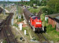 Shunter at work in the goods yard to the west of Lubeck Station in July 2009<br><br>[John Steven&nbsp;21/07/2009]