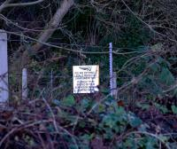 Network Rail sign warning PW staff that the Avon Gorge is a SSSI and they must proceed only with proper authority. December 2009.<br> <br><br>[Peter Todd&nbsp;03/12/2009]