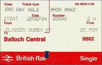 Tickets and labels 29/09/1984