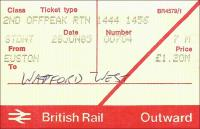 Tickets and labels 28/06/1985