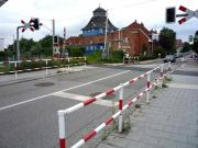 Crossing just to the east of Travemunde Hafen on Germany's Baltic Coast, July 2009. <br><br>[John Steven&nbsp;/07/2009]