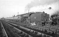 B1 no 61278 stands alongside Kingmoor shed on 3 December 1966 with the <I>Last B1</I> railtour. Following the stop, the special returned to Edinburgh via the Waverley route. <br><br>[Robin Barbour Collection (Courtesy Bruce McCartney)&nbsp;03/12/1966]