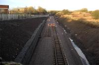 Looking west from the Western Road bridge (No 102) toward Crosshouse Junction. Track being laid out to the new buffer position.<br><br>[Robert Blane&nbsp;08/12/2009]