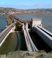 View east from Conwy Castle towards Llandudno Junction in March 2008. <br><br>[Iain Steel&nbsp;11/03/2008]