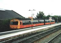 The service on this former G&SW line was so poor post-Beeching it's surprising that the bay platform at Barrhead was allowed to <br> survive.� Lucky it did, as there's now (as of December 2009) a <br> half-hourly service on the through lines as well as on the local service using the bay.� 101 695 stands at Platform 3, ready to return to Glasgow on 17 July 1998. <br> <br><br>[David Panton&nbsp;17/07/1998]