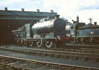 Reid ex-NB class J37 0-6-0s nos 64636 and 64537 stand in the yard at Polmont in August 1959.<br><br>[A Snapper (Courtesy Bruce McCartney)&nbsp;15/08/1959]